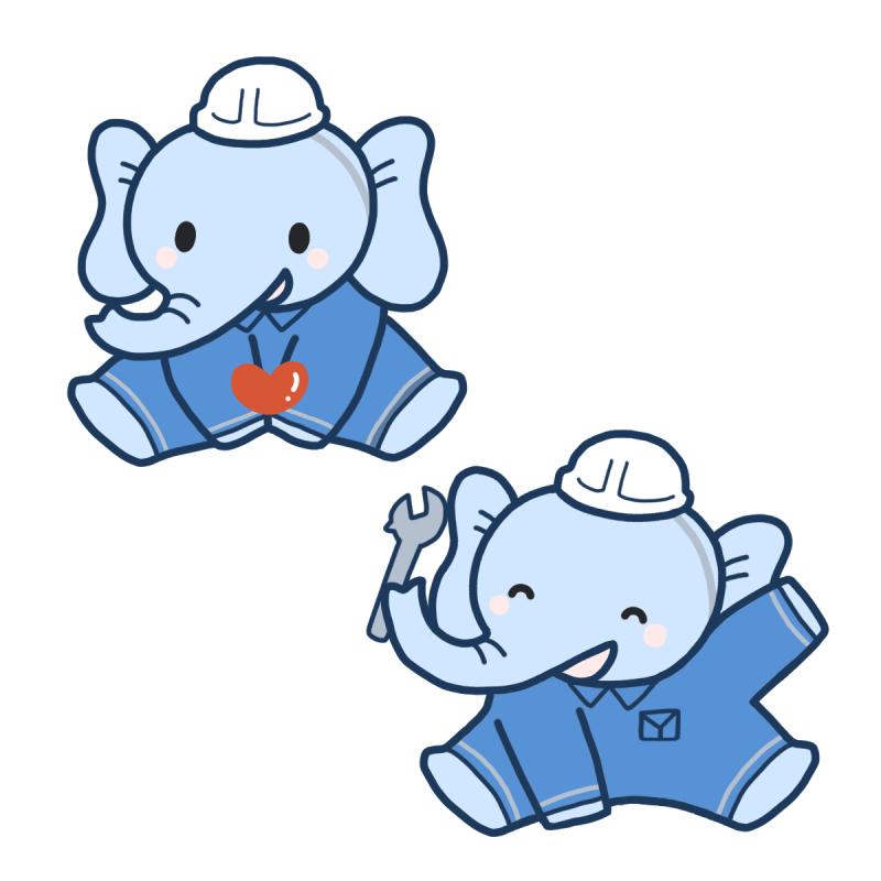 象のキャラクターデザイン