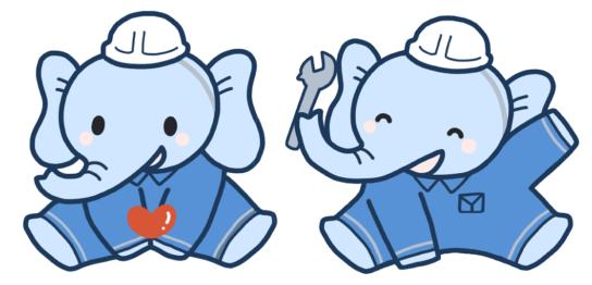 象のキャラクター