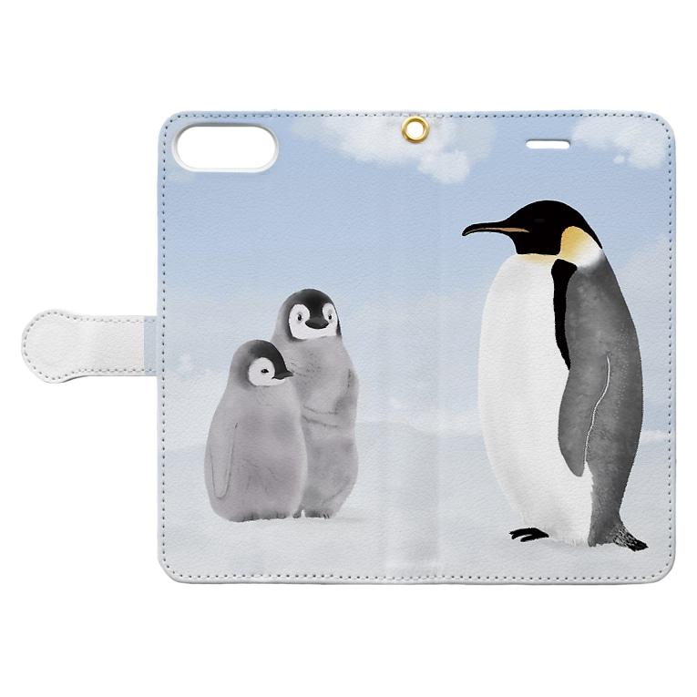 ペンギンのスマホカバー モックアップ画像