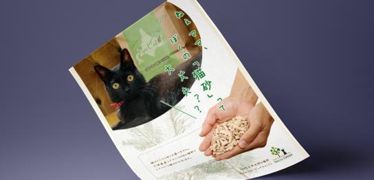 猫砂フライヤー画像